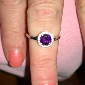 Jewelry - AMETHYST AND WHITE SAPPHIRE. RING